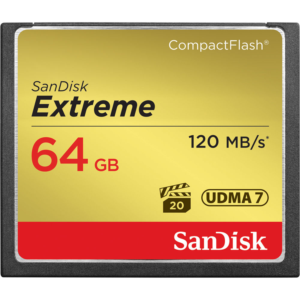 Sandisk Compact Flash 64Gb Extreme Pro 120Mb/s