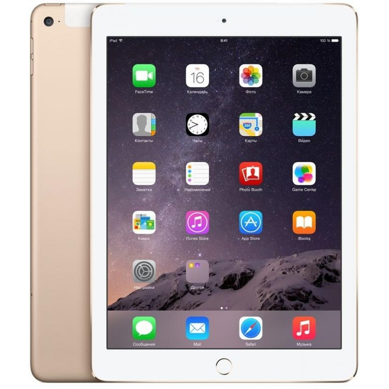 Планшет Apple iPad Air 2 16Gb Wi-Fi + Cellular Gold (MH1C2RU/A)