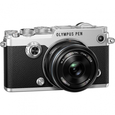 Цифровой фотоаппарат Olympus PEN-F Kit (PEN-F Body silver + 17mm f/1.8 black)