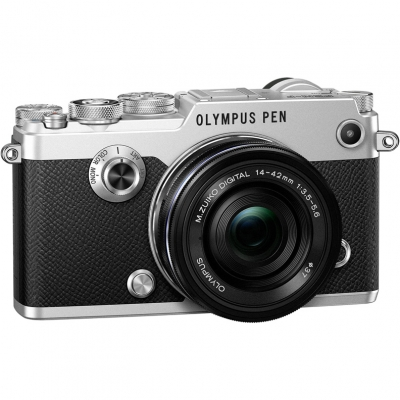 Цифровой фотоаппарат Olympus PEN-F Pancake Zoom Kit (PEN-F body silver + EZ-M1442EZ black)
