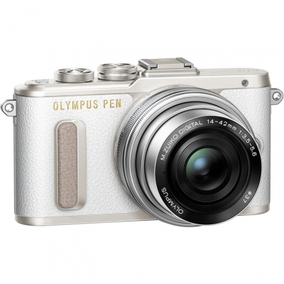 Цифровой фотоаппарат Olympus Pen E-PL8 Kit (E-PL8 Body white + EZ-M1442EZ silver)