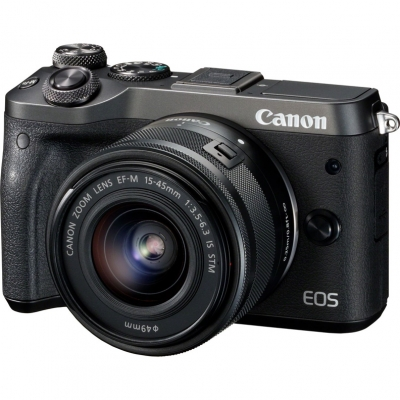 Цифровой фотоаппарат Canon EOS M6 kit 15-45 IS STM Black