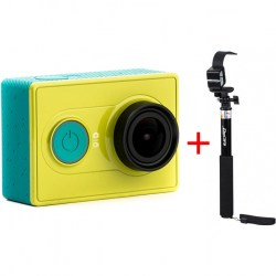Xiaomi Yi Action Camera Basic Edition и монопод Kit-SP2Q,