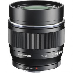 Объектив Olympus M.Zuiko Digital ED 75mm f/1.8 черный