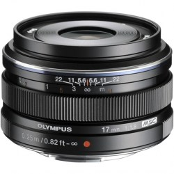 Объектив Olympus M.Zuiko Digital 17mm f/1.8 черный