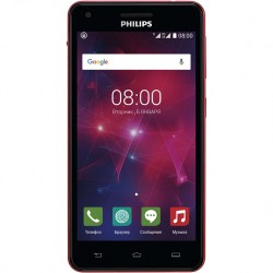 Смартфон Philips Xenium V377 Black Red