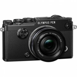 Цифровой фотоаппарат Olympus PEN-F Pancake Zoom Kit (PEN-F body black + EZ-M1442EZ black)