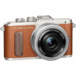 Цифровой фотоаппарат Olympus Pen E-PL8 Kit (E-PL8 Body brown + EZ-M1442EZ silver)