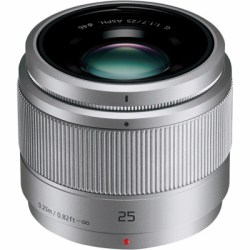 Объектив Panasonic Lumix H-H025AE-S 25mm f/1.7 G Aspherical Silver (белая коробка)